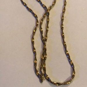 Vintage Tirafari twist chain necklace